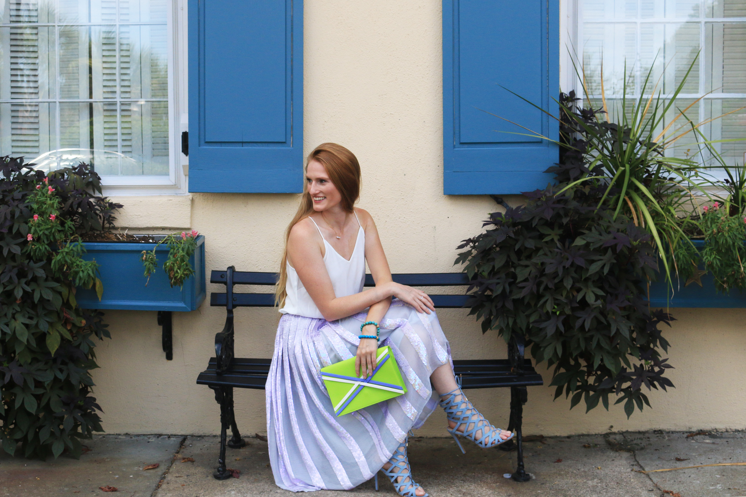 pastel sequin skirt