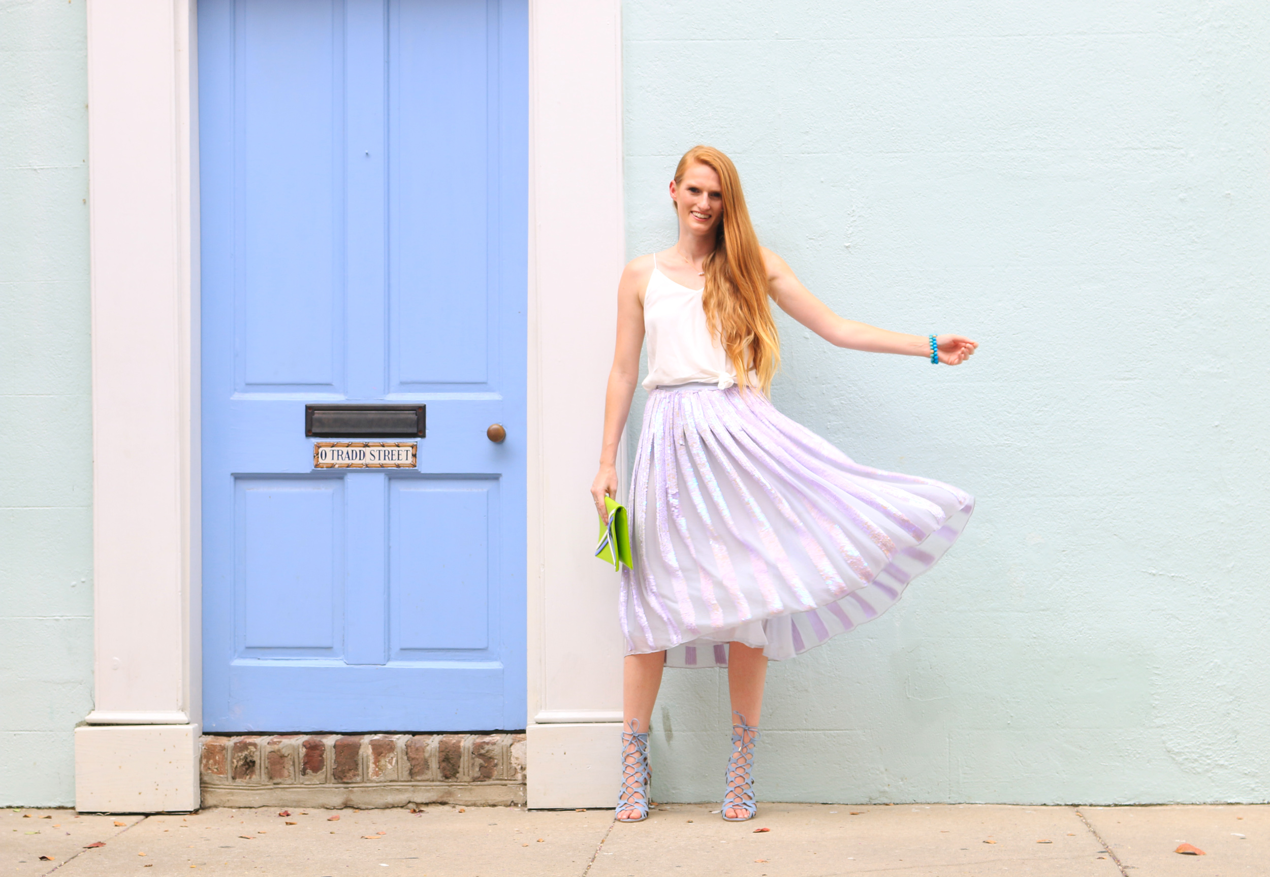 pastel sequin skirt