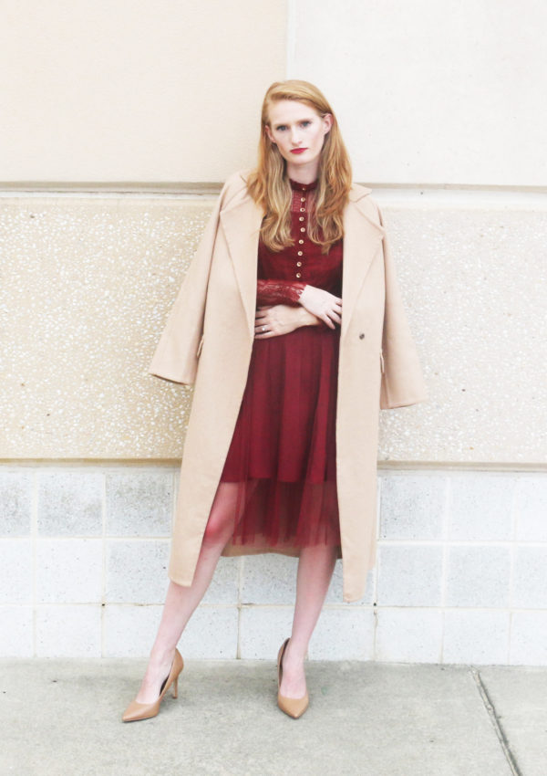 Autumn Colors: Camel and Maroon