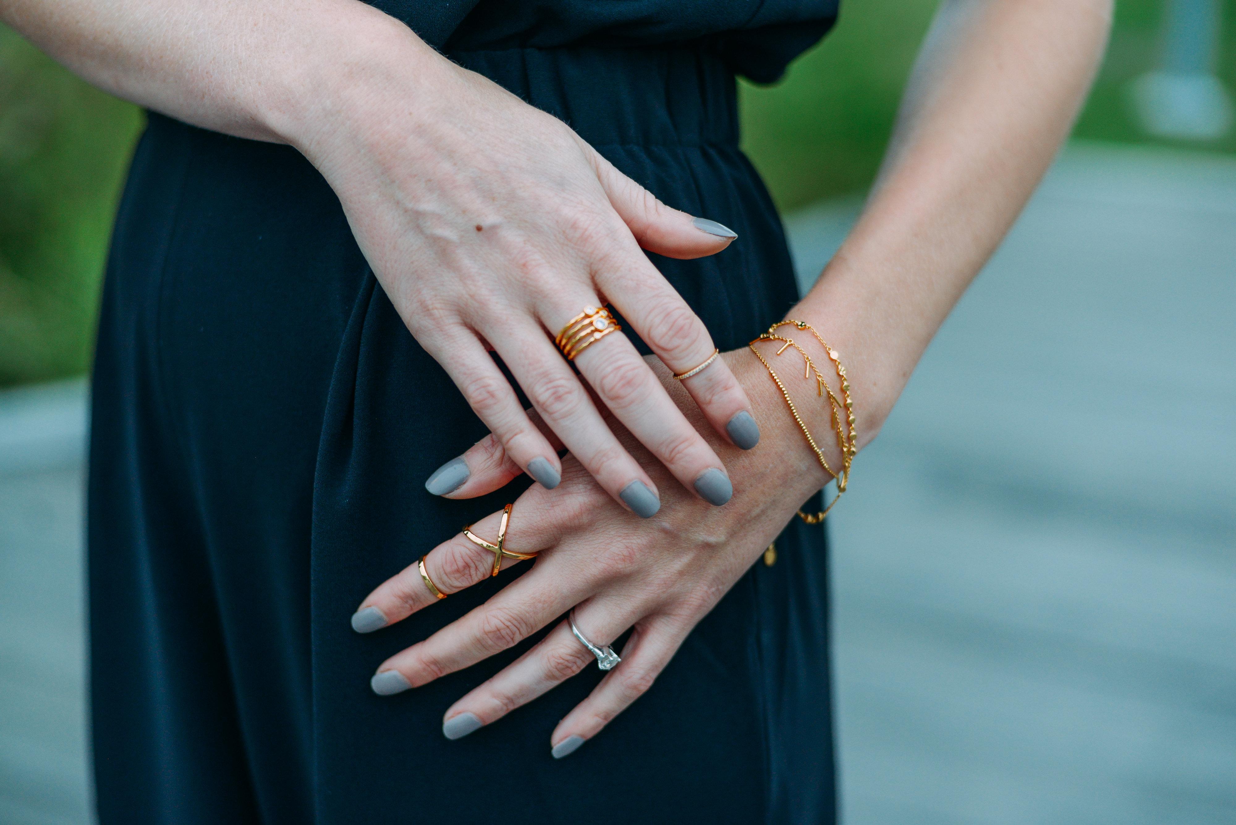 Gorjana stacked rings