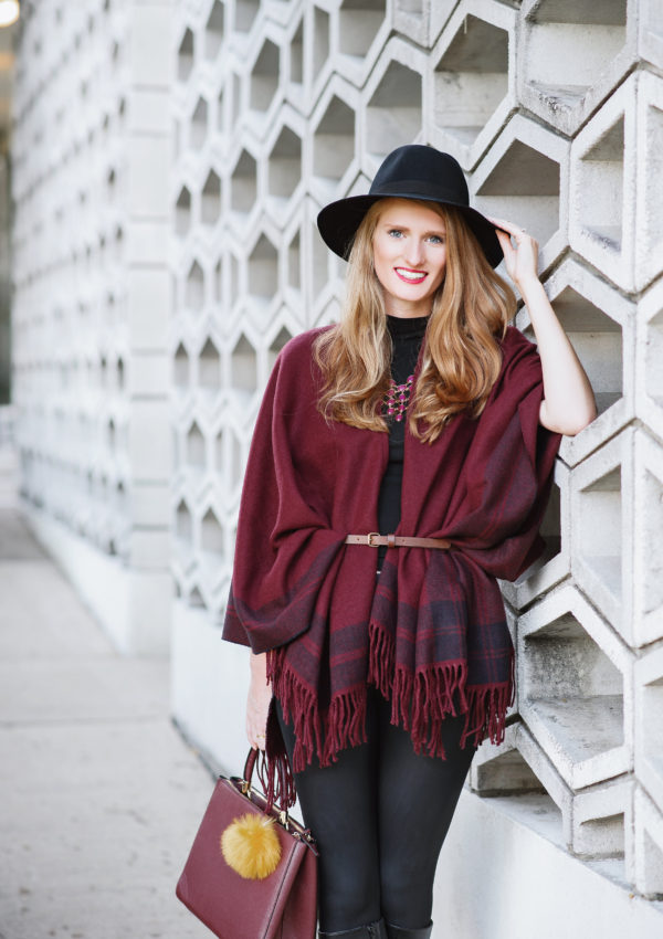 The Belted Poncho Scarf