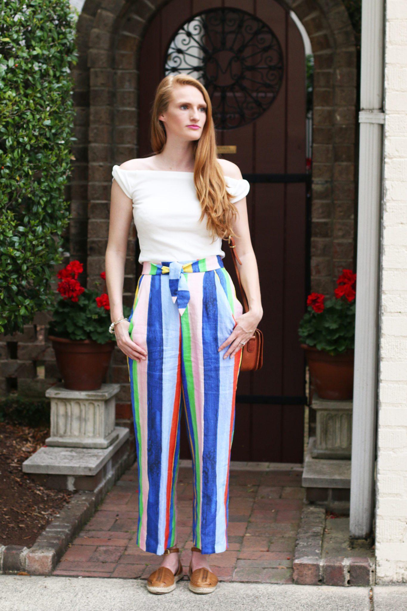 mara hoffman rainbow pants