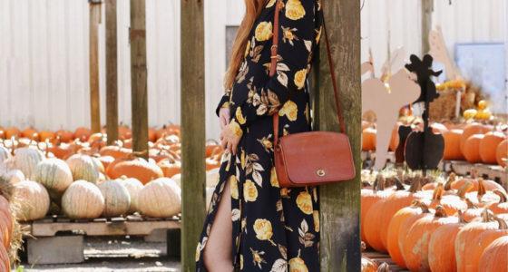 Autumn Maxi Dress & Fall Harvest