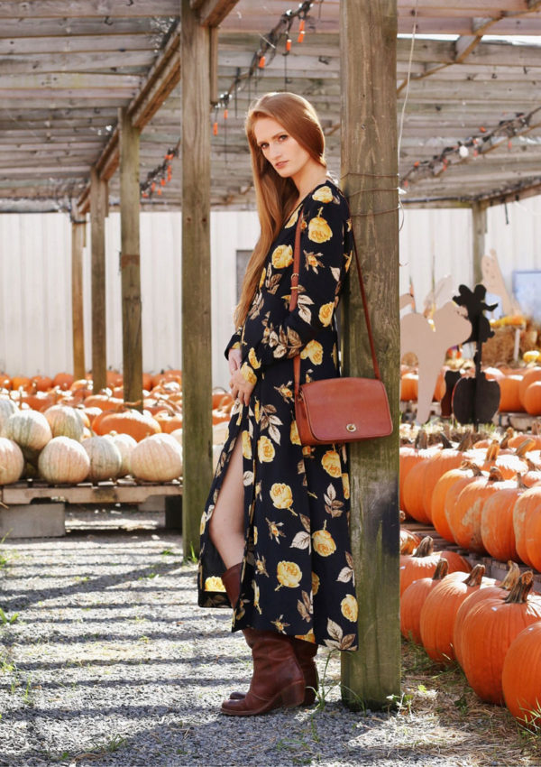 Autumn Maxi Dress & Fall Harvest