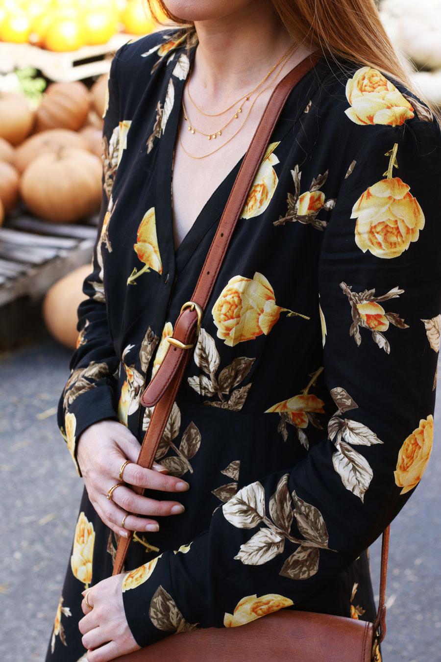 nakd fashion maxi dress fall style autumn pumpkin patch frye boots