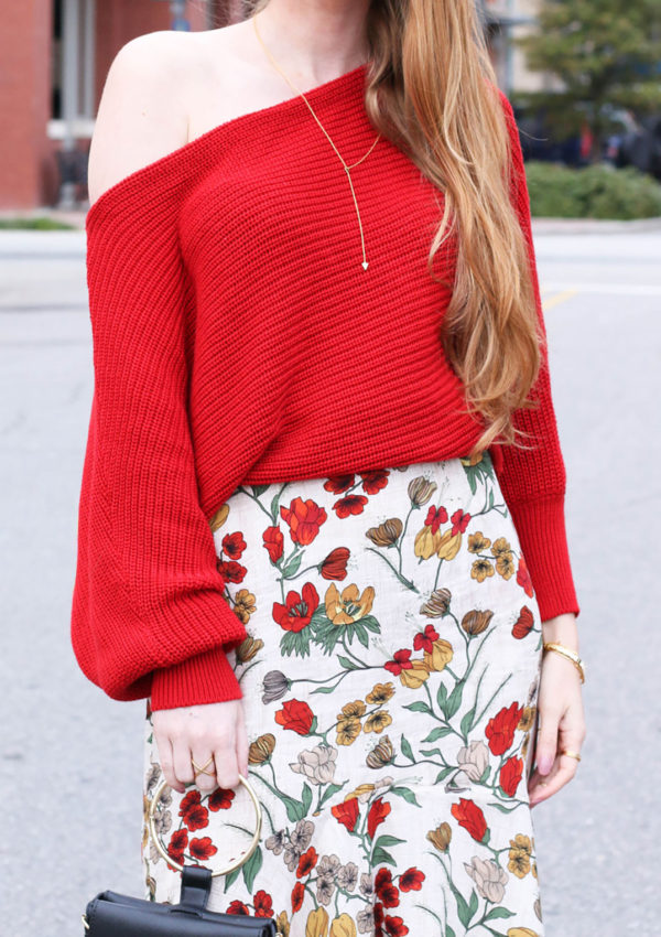 Cozy Off The Shoulder Sweater + Tips On Being Happy