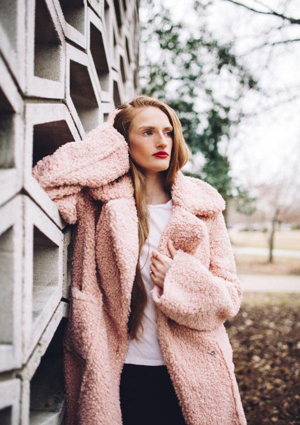 The Cutest Pink Teddy Bear Coat