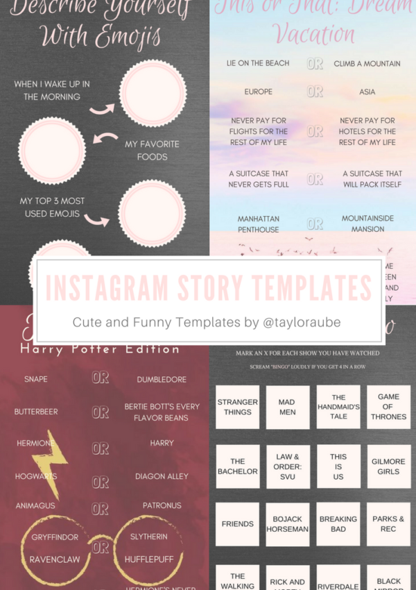 Cute and Funny Instagram Story Templates for Highlights