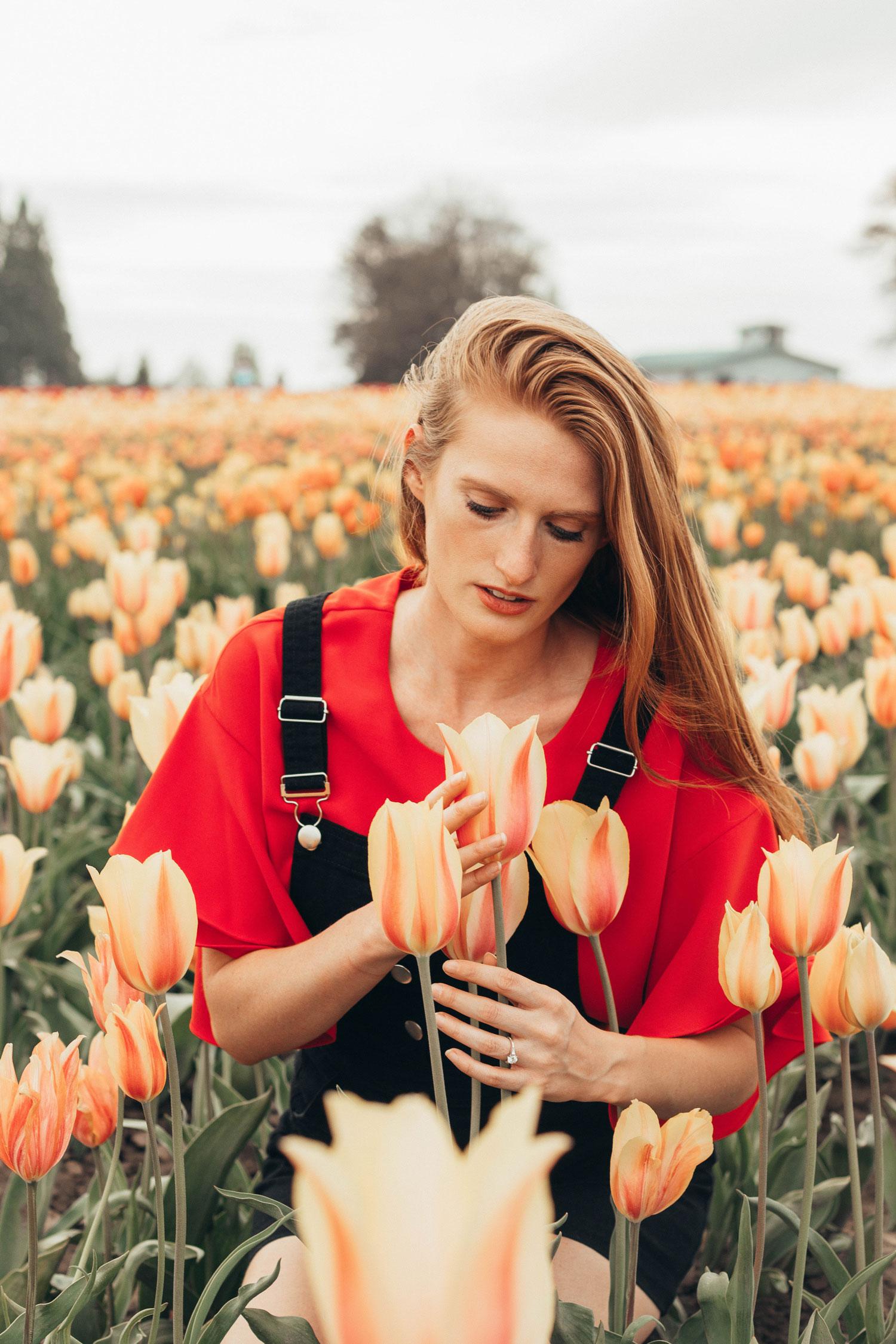 cute overall skirt oregon tulip festival
