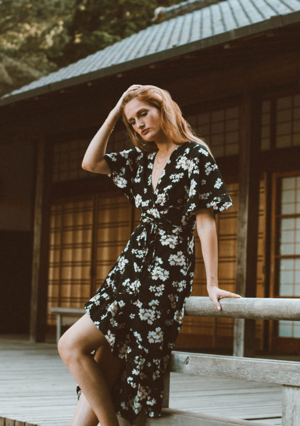 Floral Wrap Dress at the Portland Japanese Garden