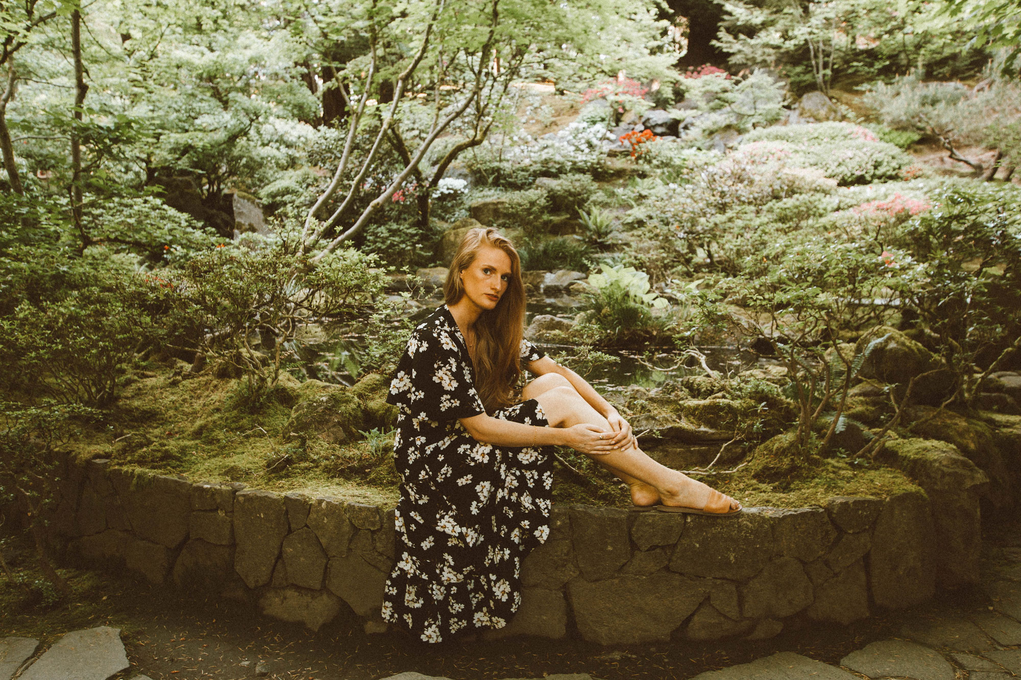 Floral Wrap Dress Portland Japanese Garden
