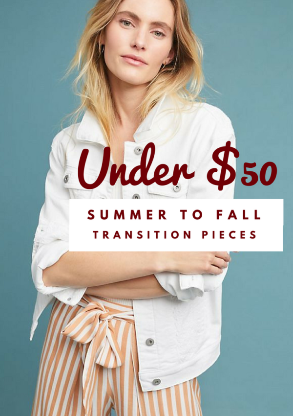 Summer to Fall Transition Pieces Under $50