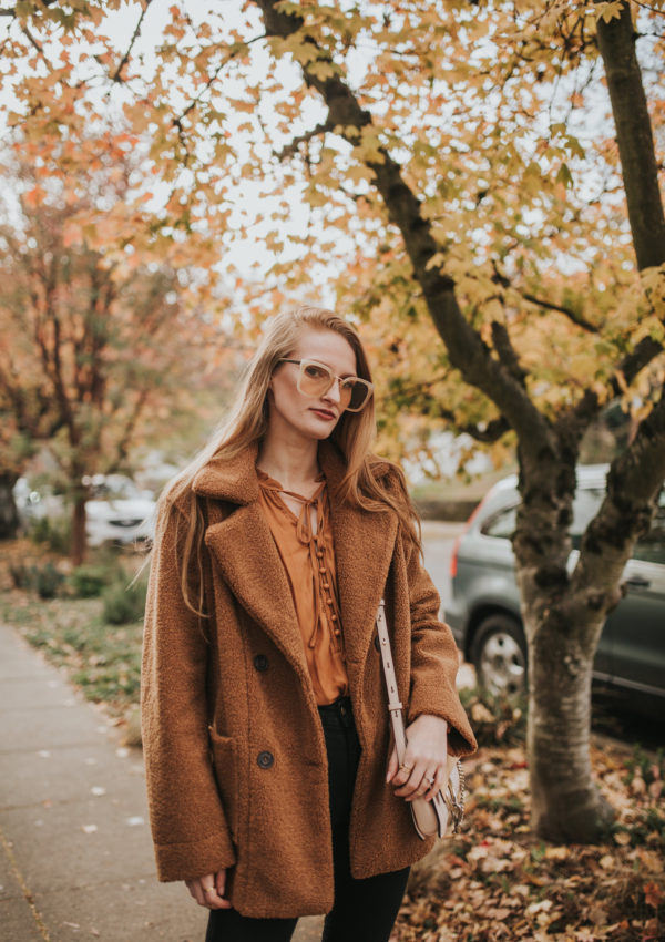 The Coziest Brown Teddy Coat