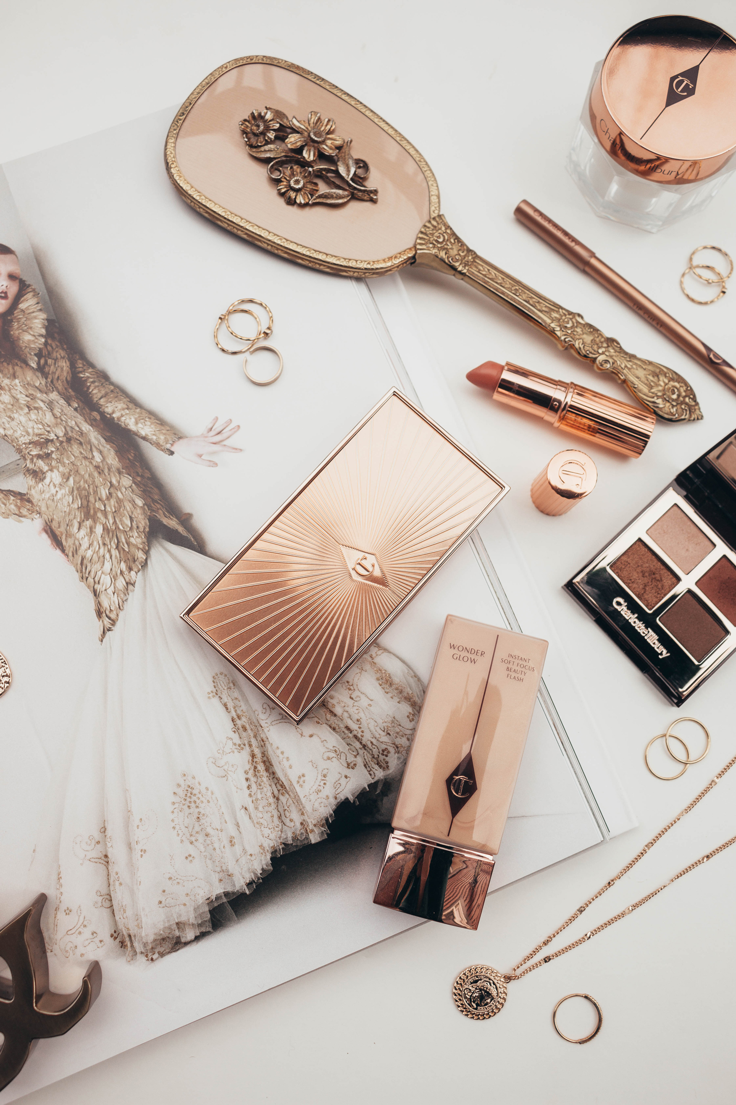 Charlotte Tilbury Cosmetics Makeup Gold Hollywood Glamour