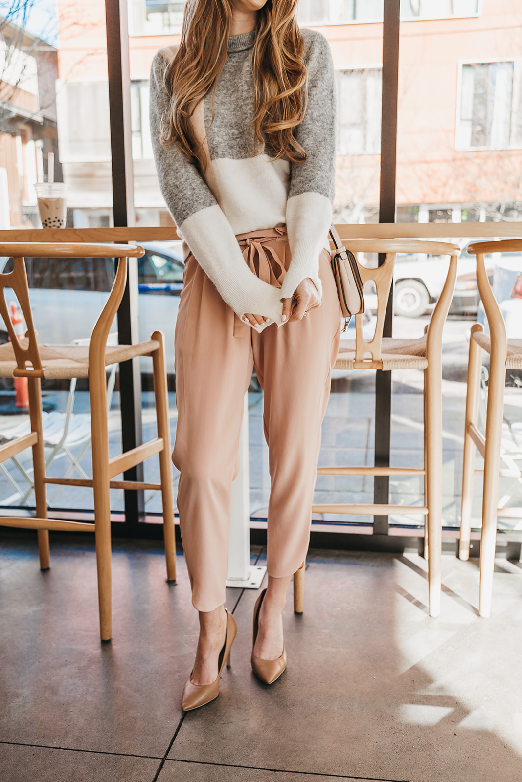 Dressing For Aesthetics Tea Bar Portland Neutral Outfit Warm Colors Patel Capsule Wardrobe