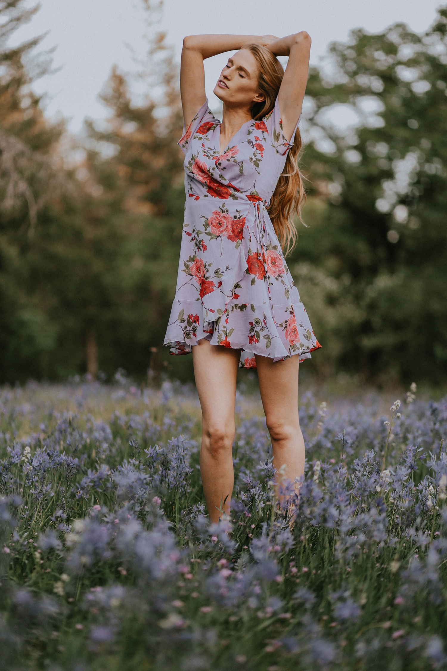 Wildflowers Camas Lilies Nordstrom Wrap Dress