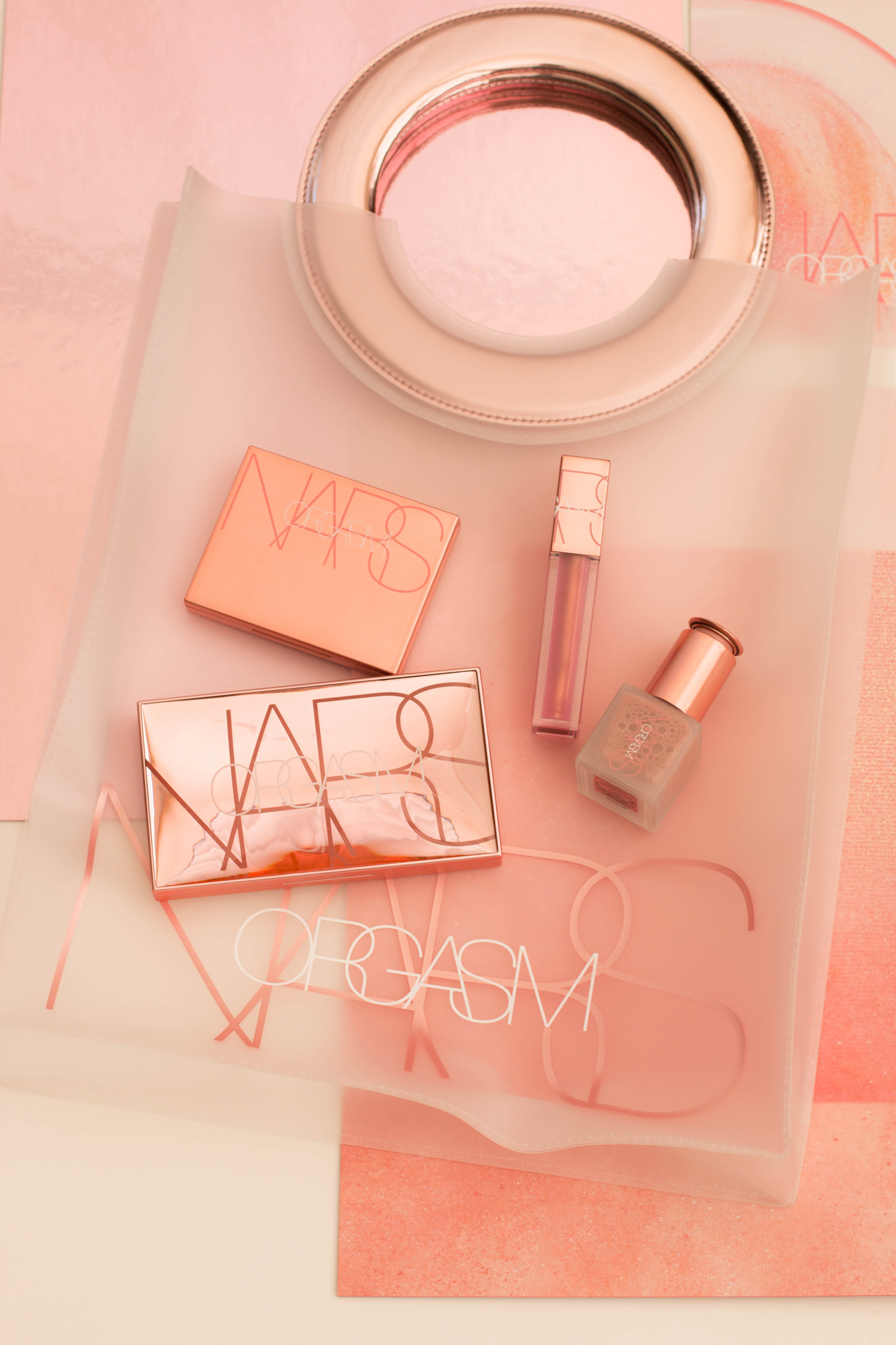 Nars Orgasm Collection Sephora Ulta Nordstrom Beauty Highlighter Blush Palette Lip Gloss Pink