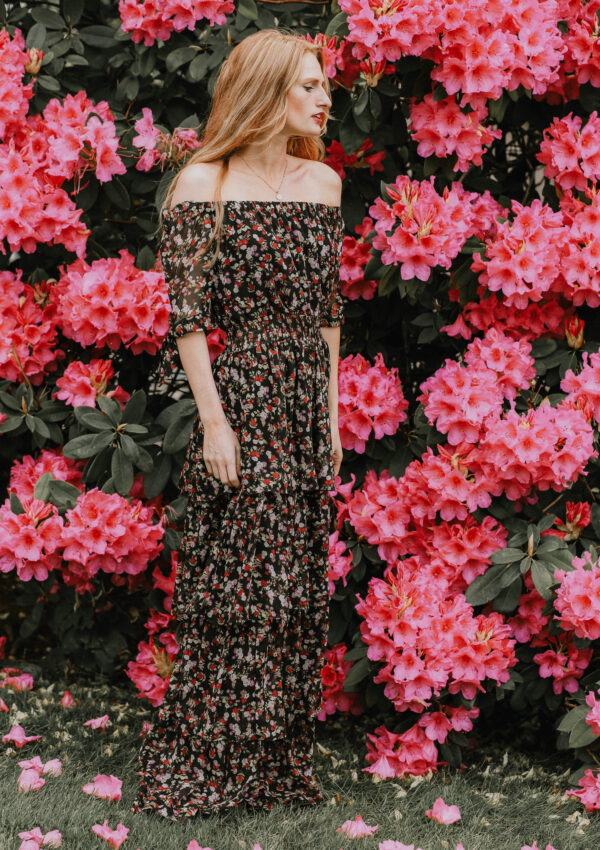 Summer Camouflage: Floral Maxi Dress