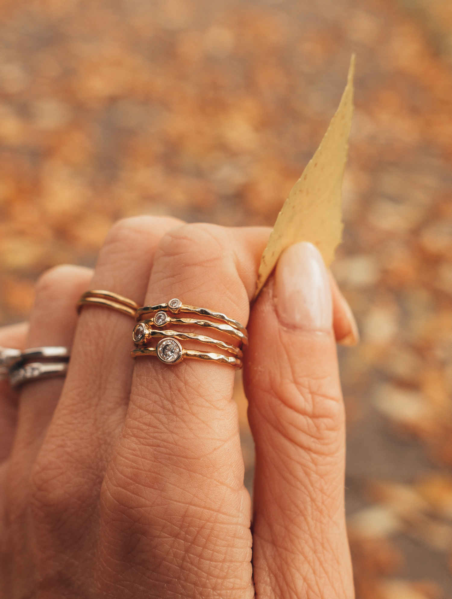 Vermeil Jewelry Aurate ring stack