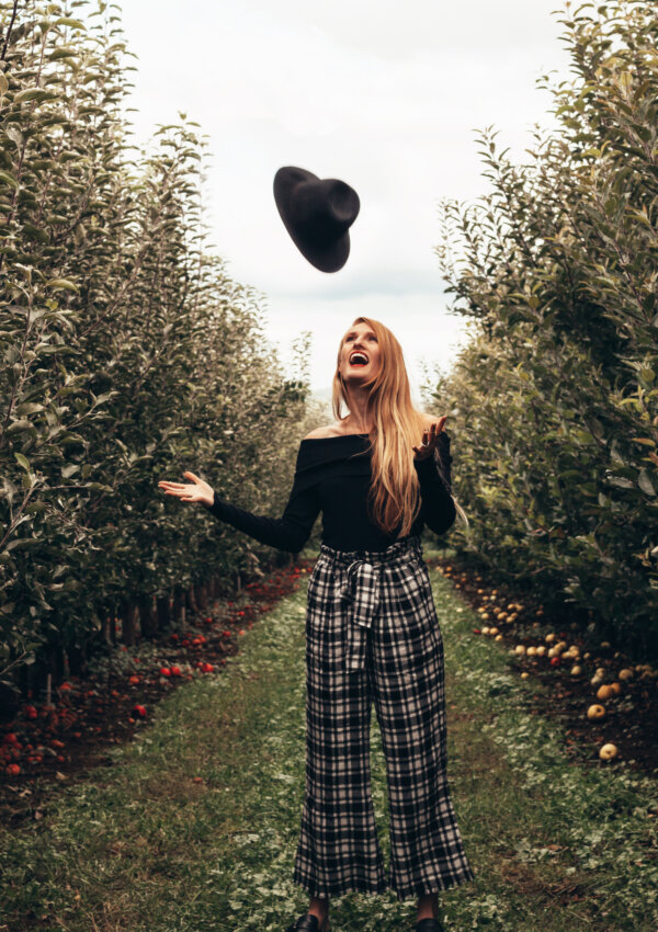 Apple Picking in Plaid by Billy T