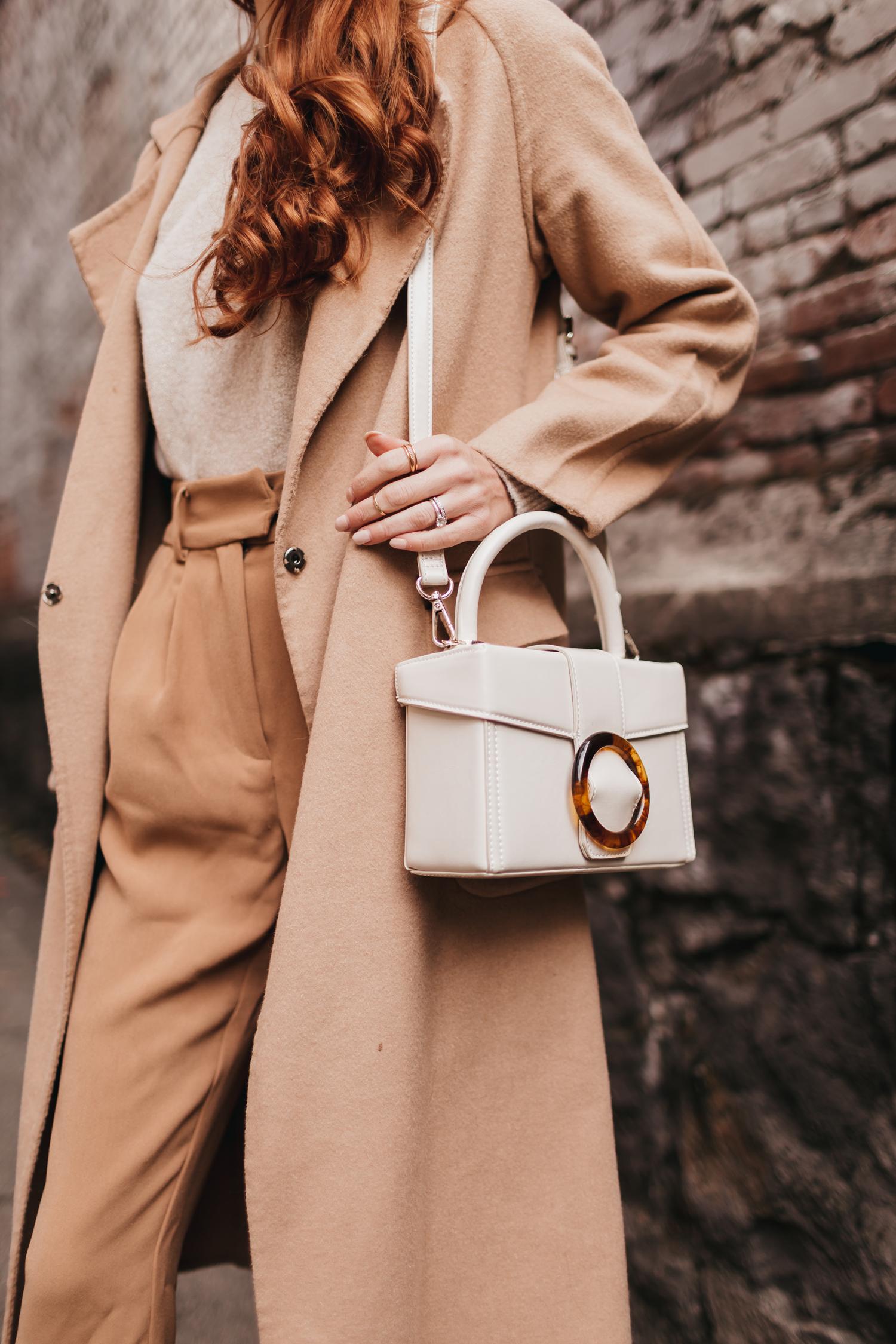 Neutral Outfit Camel White Biege Neutrals Coat Capsule Wardrobe Monochrome